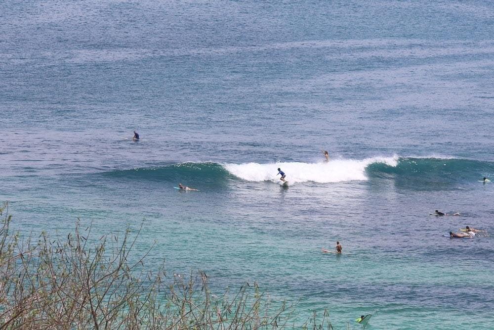 surf spots in padang padang right